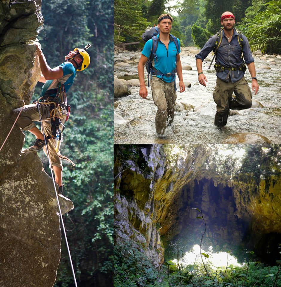 Climbing and adventure scenes